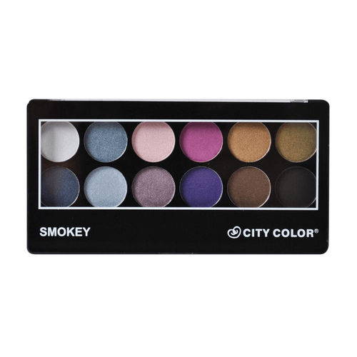 Paleta de 12 Sombras Smokey- City Color