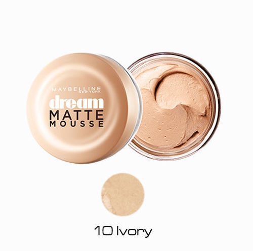 10 Ivory Maquillaje Dream Matte Mousse Maybelline
