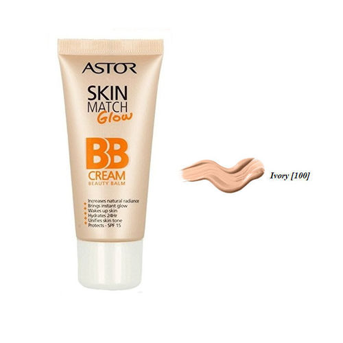 Skin Match Care Glow BB Cream Astor 100 Ivory